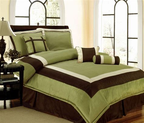 brown and green comforter sets details about new bedding green brown white hton