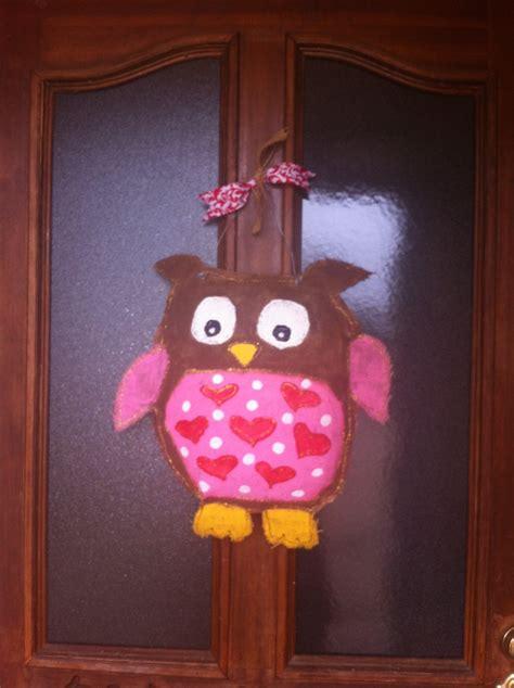 door hanging diy burlap owl s door hanger sanity amongst chaos