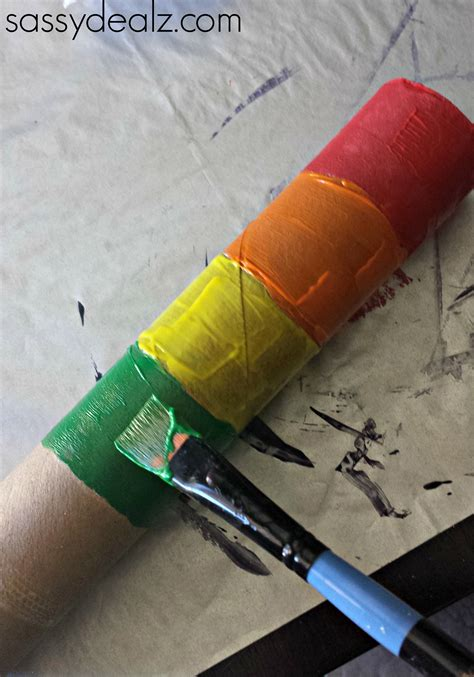 paper towel roll crafts rainbow paper towel wind catcher craft for crafty