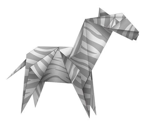 origami paper white free illustration origami zebra black and white free