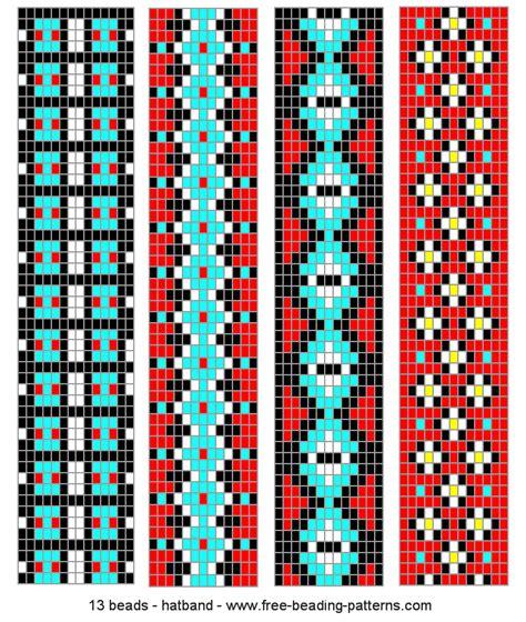 bead loom designs peyote stitch headband indian things