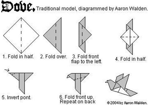 origami dove printable oiseau simple papier