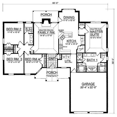 split bedroom house plans split bedroom house plan 7431rd 1st floor master suite