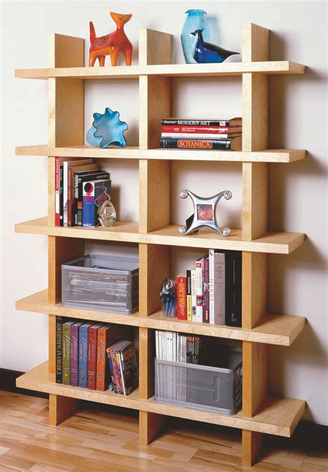 aw extra contemporary bookcase popular woodworking