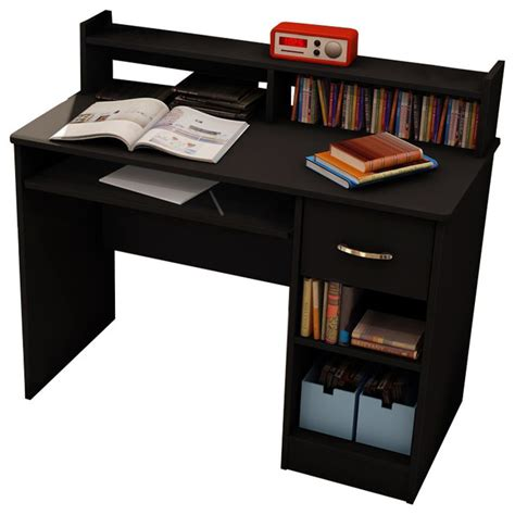 small computer desk with hutch small black desk with hutch south shore axess small wood