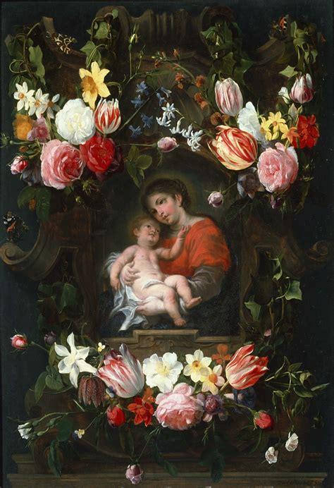 flower child painting file daniel seghers garland of flowers with madonna and