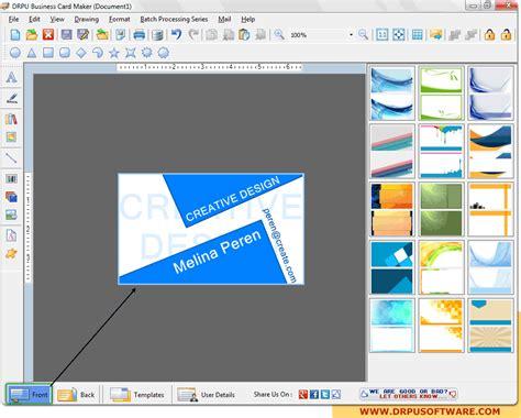 program for business cards business cards creator program images card design and