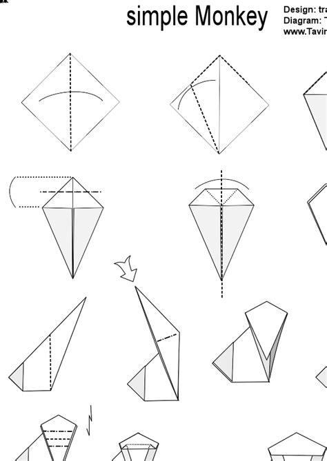 origami monkey diagram origami monkey comot