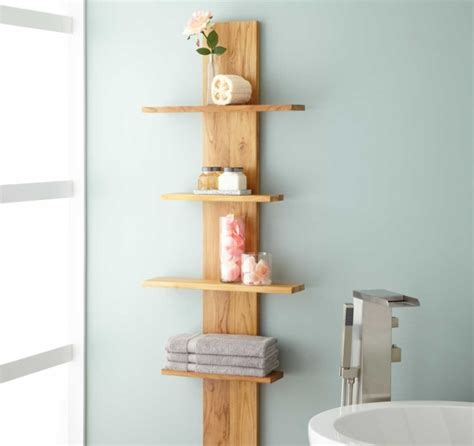 decorative bathroom shelves to enhance your bathroom