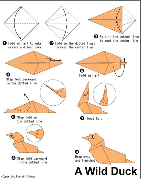 origami duck the world s catalog of ideas