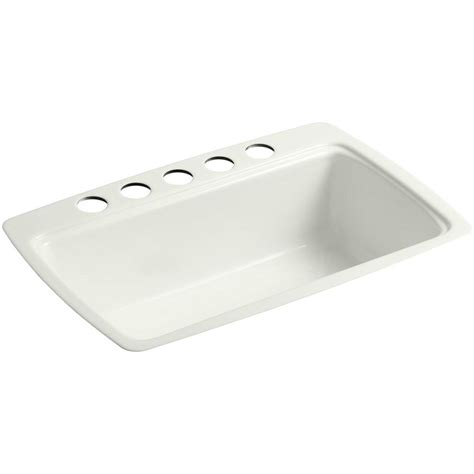 single bowl cast iron kitchen sink kohler cape dory undermount cast iron 33 in 5 single