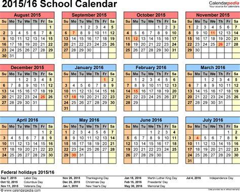 calendars 2015 2016 as free printable excel templates