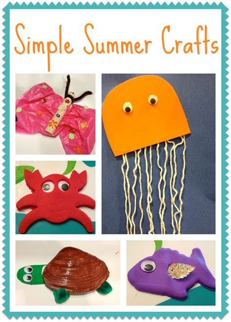 kid crafts for summer 5 simple summer crafts for the chirping