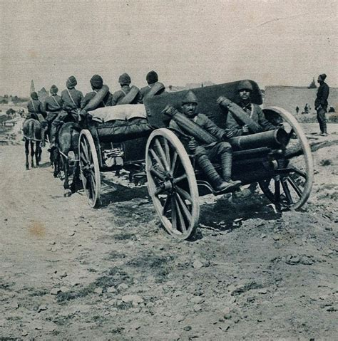 ottoman artillery ottoman artillery on the march during the battle at the