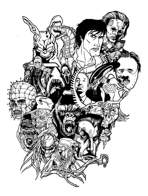horror movie tattoo update by simonsavage on deviantart