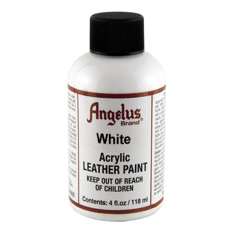 acrylic paint on leather angelus leather paint 4 oz white chickadee solutions