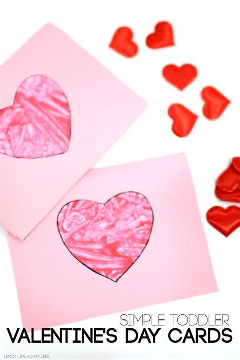 how to make a valentines card toddler valentines day cards ted s
