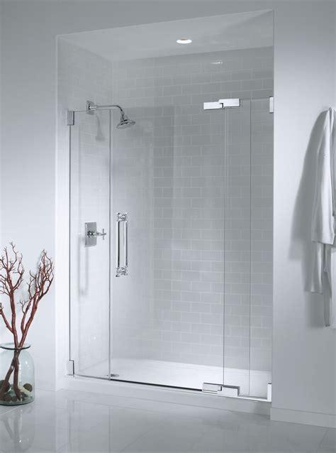 seamless glass shower doors bathroom