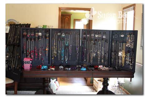 how to make a jewelry display board peg board display sugar bee crafts
