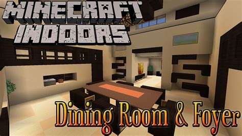 Front Foyer minecraft indoors dining room amp foyer youtube