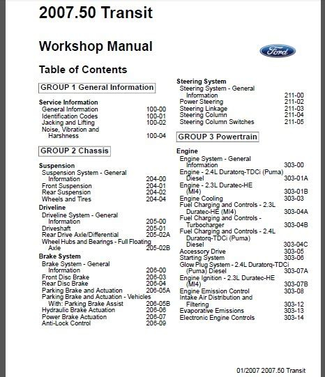small engine repair manuals free download 1986 ford bronco ii head up display ford transit tourneo 2007 workshop service repair manual