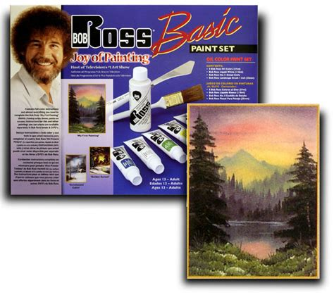 bob ross painting palette paint set in wood pochade box national artcraft
