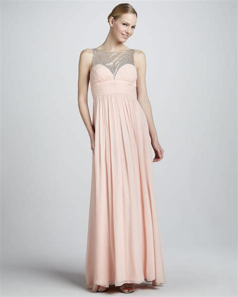 aidan mattox beaded gown aidan mattox beaded gown with sweetheart neckline in pink