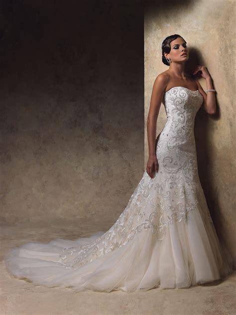 mermaid wedding dress with beading mermaid wedding dresses an choice for brides