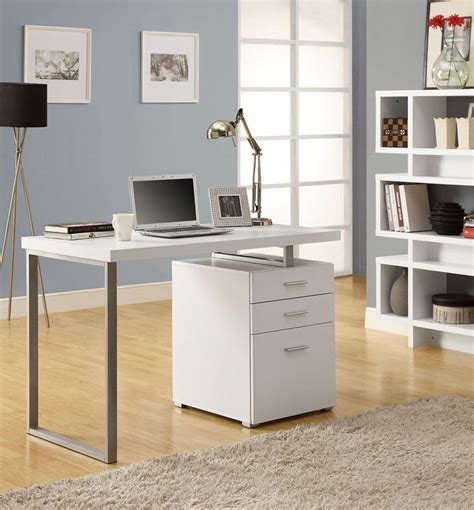 modern desk with drawers modern white office desk laptop workstation with drawer