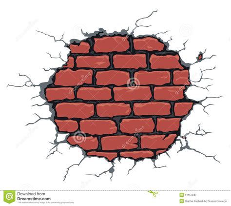 cracked brick wall royalty free stock photography image