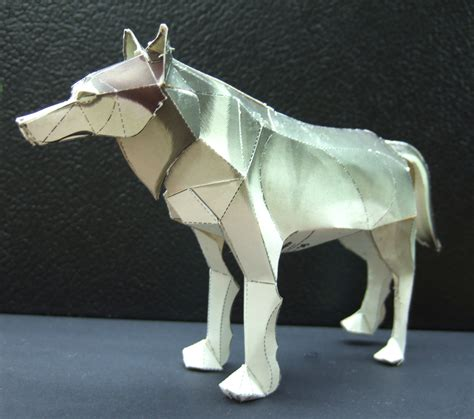 wolf origami papercraft artificial intelligence