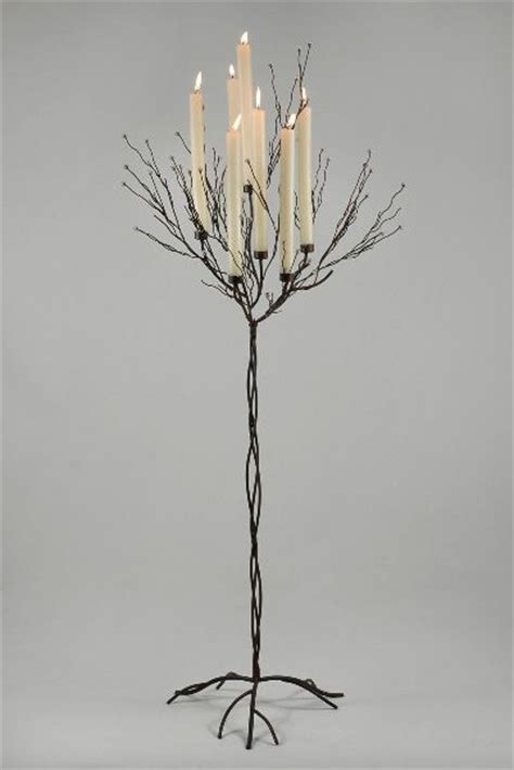 metal twig tree candle holder candle tree black 5ft with 7 candleholders floor candle
