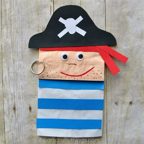 pirate crafts for paper bag pirate craft for i crafty things