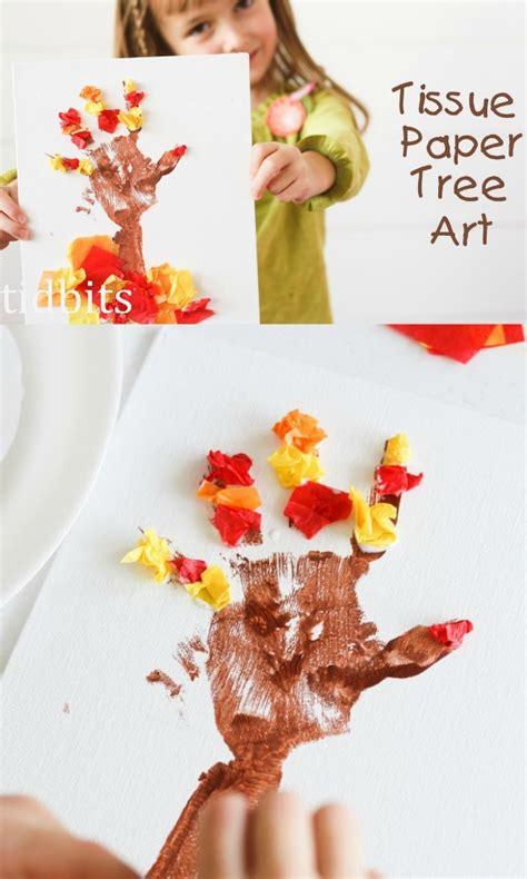 tissue paper tree craft tissue paper tree u create