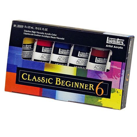 acrylic paint kits for beginners artist acrylics classic beginners set liquitex from