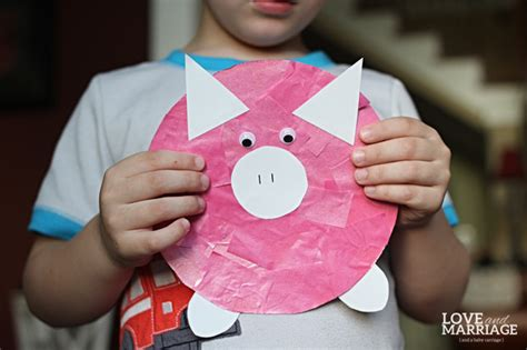 pig craft for peppa pig inspired craft and marriage