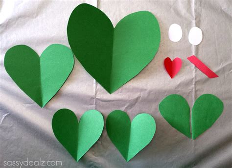 paper hearts craft paper frog craft for crafty morning