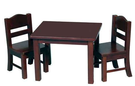 table and chairs guidecraft doll table and chair set toys dolls