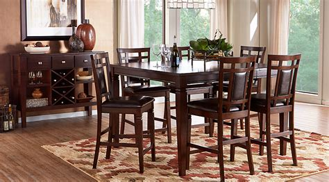 square dining room sets riverdale cherry 5 pc square counter height dining room