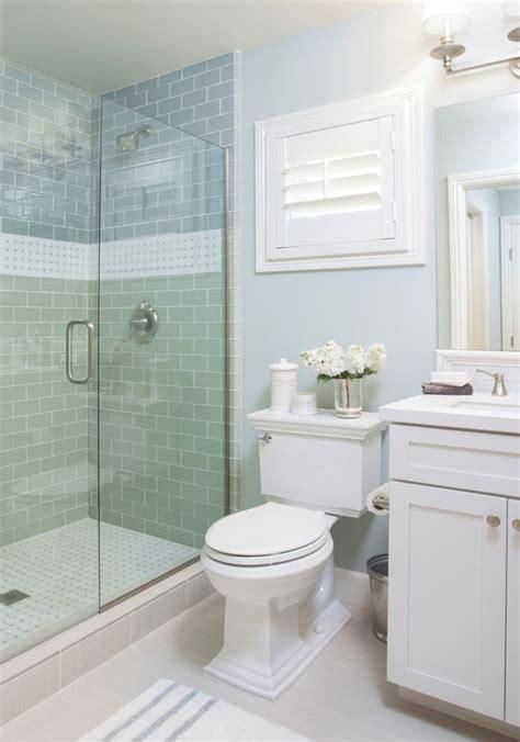 small blue bathroom ideas coastal bathroom with aqua blue subway tile agk design