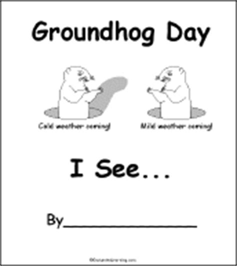 groundhog day kindergarten worksheets groundhog day beginning readers books enchantedlearning
