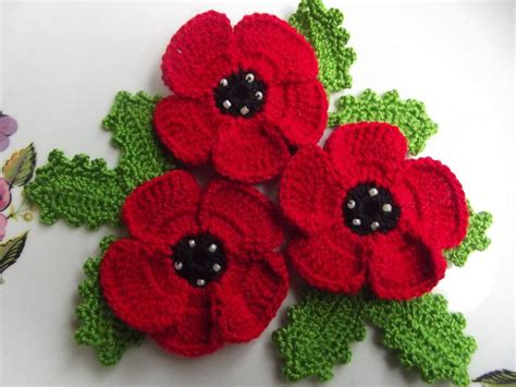 how to knit a poppy flower 17 best images about crochet on free pattern