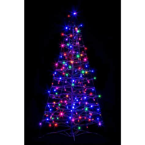pre lighted trees crab pot trees 4 ft pre lit led fold flat outdoor indoor