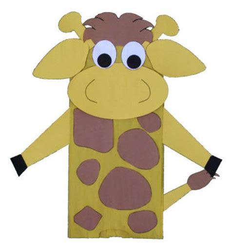 dltk crafts paper bag giraffe craft