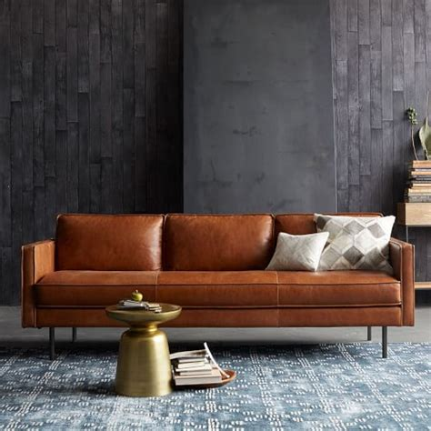 west elm leather sofa axel leather sofa west elm