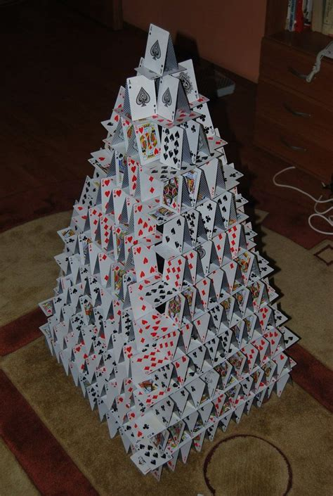 how to make a card castle 98 best images about card castles and cards on