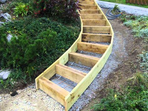 comment faire un escalier exterieur en bois