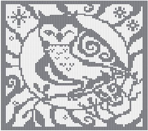 knitting chart witchwolfweb creations spirit owl charts