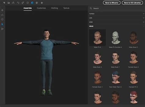 create your own 3d model create 3d models characters adobe fuse cc beta