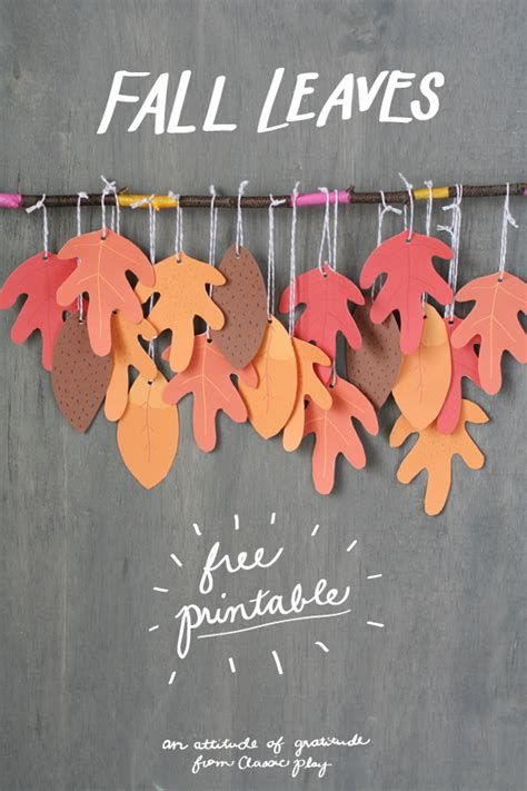 arts and crafts ideas for free fall leaves free printable classic play